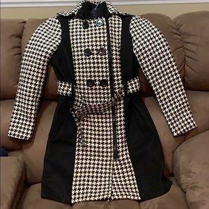 YOKI girls houndstooth coat